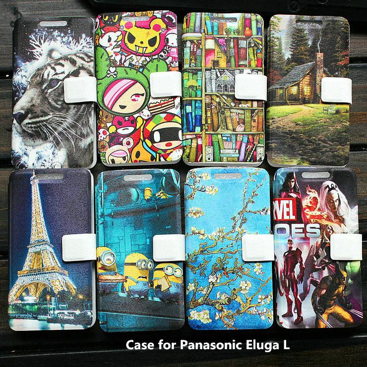 Universal leather phone Case for Panasonic Eluga L case cover(China (Mainland))