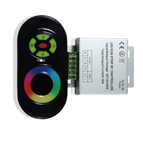 Wireless RF Touch Panel RGB Dimmer LED Remote Controller For RGB LED Strip,DC12-24V, 6A/circuit, 20M Effective Remote Distance(China (Mainland))