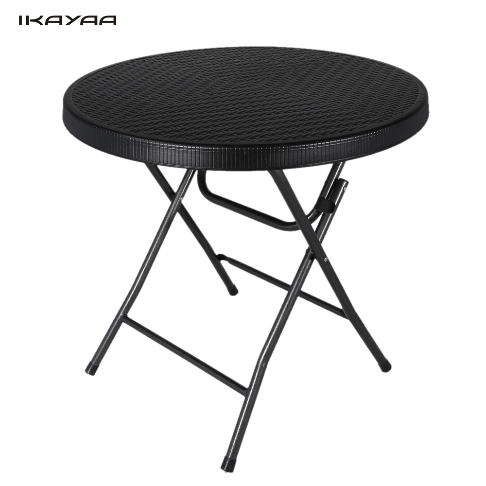 IKAYAA Round BBQ Portable Folding Table Kitchen Garden Party BBQ Dining Coffee Camping Table Picnic 80cm Diameter mesa plegable(China (Mainland))