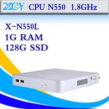 Small micro industrial pc computer station intel N550 8gb ram 64gb ssd support HD video atom desktop pc thin client Mini pcs