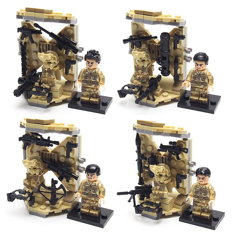 SWAT Police Military Minifigures Set Army with weapon Equipment Building brick Kids Toys Compatible legoed Christmas present(China (Mainland))