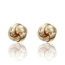 New Minimalist Jewelry Exquisite Geometric Twisted Irregular Round Triangle Matte Metal Mini Stud Earrings for Women Girl Gift(China)
