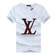 S-5XL casual short sleeve o-neck letter printed cotton t shirt men brand 2015 white black tee shirt mens tshirt camisetas AFX876(China (Mainland))