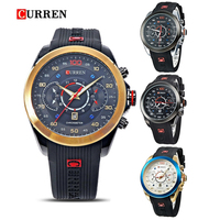 2015 New Relogio Masculino CURREN 8166 Golden Watches men Luxury Brand Waterproof Sport Military Army Dress quartz Wristwatches