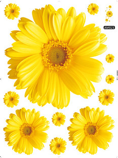 Removable Daisy Wall Art Sticker Wall Decorations Decor Decals Murals Accessories Supplies Products For Living Room Bedroom(China (Mainland))