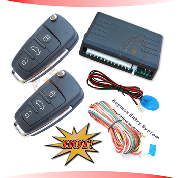 promotionall flip key keyless entry system,central lock automatication,trunk open output,window rolling up ouput,0.5/3.5S