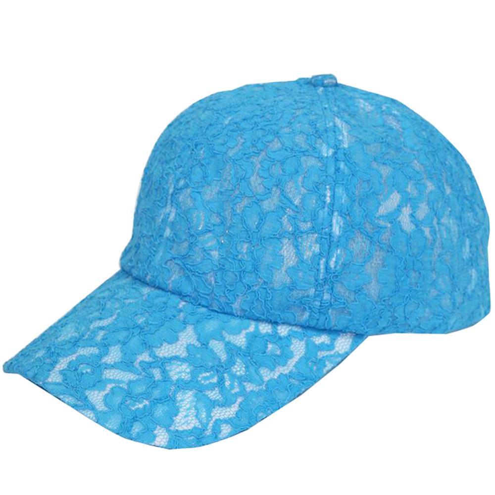 Fashion Womens Lace Hat Curved Baseball Adjustable Anti-UV Outdoor Sun Visor Cap(China (Mainland))