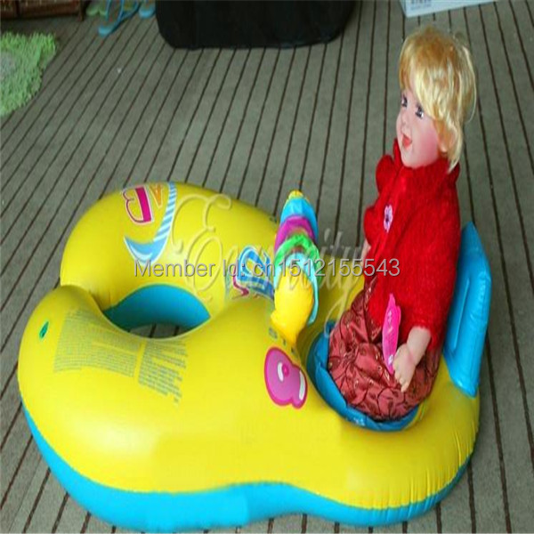 Safe Soft Inflatable Mother Baby Swim Float Raft Kids Chair Seat Double Person Swimming Ring Pool(China (Mainland))