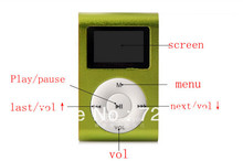 hot sale LCD Screen USB Rechargeable Mini Clip MP3 Player with Micro SD/TF Card Slot 500PCS ONLY MP3 FREE SHIPPING(China (Mainland))