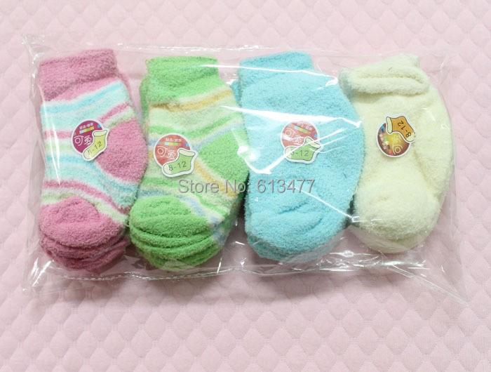 Thickening half velvet baby boys girls socks baby clothing accessories booties floor infant socks homewear 5pair=10pices ks38(China (Mainland))