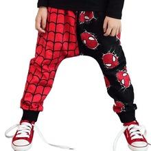 Children Brand Clothing Kids Spiderman Pants Boys Girls Cartoon Hero Trousers Baby Harem Pants Retail Hot sale(China (Mainland))