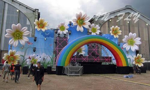 Специальные свадебные украшения Надувные Лилия цветок форму с rgb led для партии и события