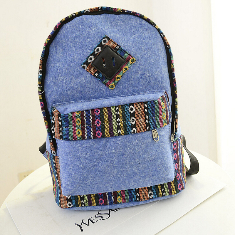 2015 Fashion Canvas Backpack Women Shoulder Bags Vintage Backpack Casual Women Travel Backpack