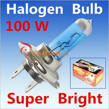 2pcs H7 100W 12V Super Bright White Fog Lights Halogen Bulb High Power Car Headlights Lamp Car Light Source parking 6000K