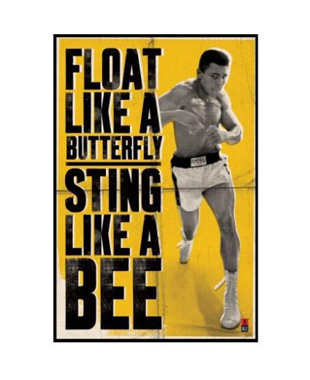 Muhammad Ali Custom Wall Paper HD Pictures and Printings Hot posters Wall Sticker office home decor U1-587(China (Mainland))