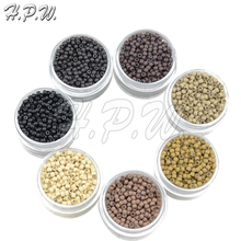 H.P.W. NEW 3.0mm NANO Ring COPPER SILICONE High quality Beads nano hair extension tools 7Colors available 500Pieces/jar(China (Mainland))