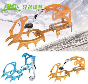 14 Teeth New improved Crampon Ultraportability Ice Gripper Aluminum Alloy Professional Mountaineer Expeditions Brs Snow Crampons