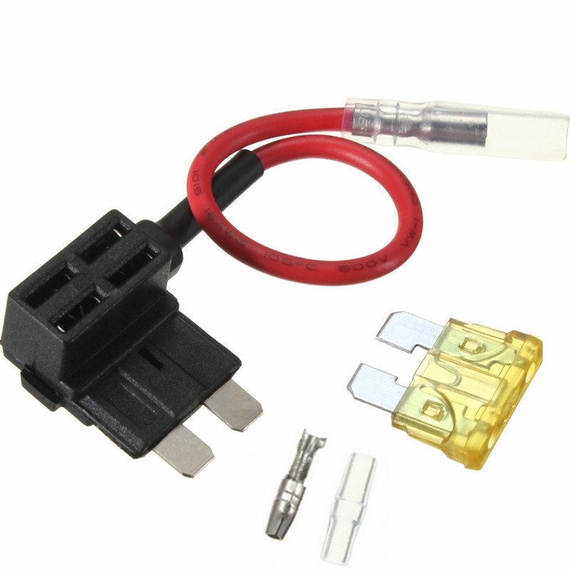 1PC ACS J Add A Circuit Mini/Small/Big Piggy Back Pluggable Standard Blade Tap Holder Car Fuse Box Electric Appliance with Fuse(China (Mainland))