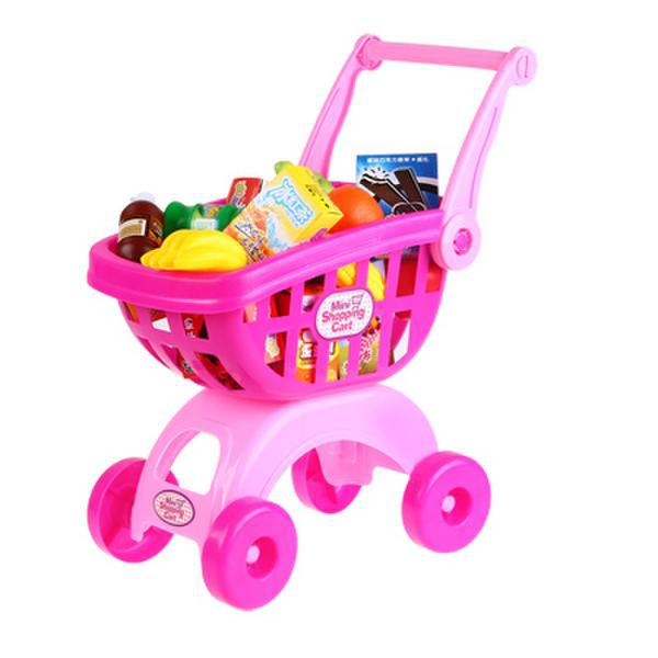 2015 new real no wooden toys fuits toddler toy supermarket children kid shopping cart pretend. Black Bedroom Furniture Sets. Home Design Ideas