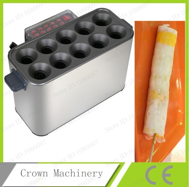 Free Shipping Automatic Commerical 10 grill tubes egg frying machine;Chicken eggs stick device(China (Mainland))
