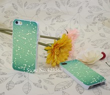 Green ocean blur Style Hard White Phone Cover Cases iPhone 5 5s 4 4s 5c 6 6s plus - the king of castle168 store