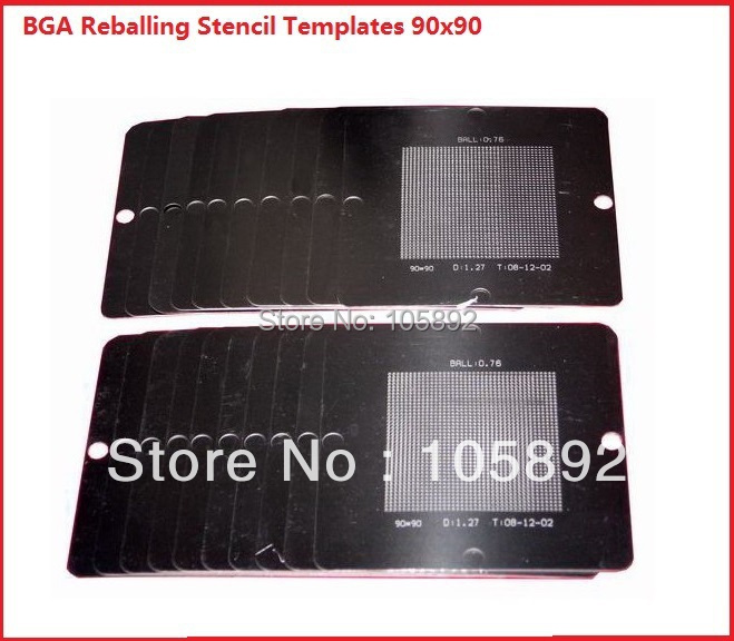 full set 341pcs/lot reballing bga stencil kit BGA StencilsTemplates 90mm X 90mm for laptop console smartphone(China (Mainland))