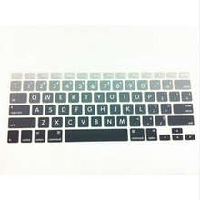 Big Letter Gradient Rainbow Keyboard Cover Protector Skin Protective Film For All Apple Macbook Mac Air Pro Retina 13 15 17