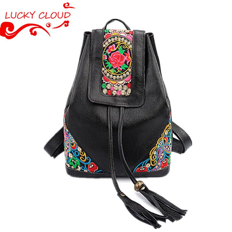 National trend 100% Genuine Leather backpacks women 2015 Drawstring backpack for teenage girls mochila mujer bolsas de costas<br><br>Aliexpress