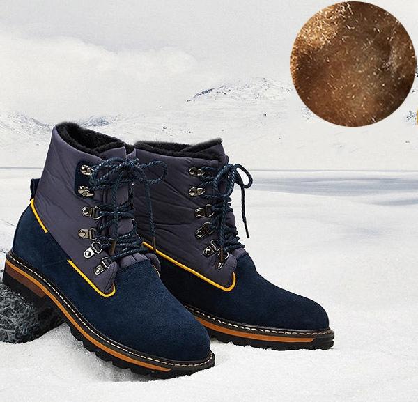 Фотография 2014 New Winter Velvet High-Top Boots Men