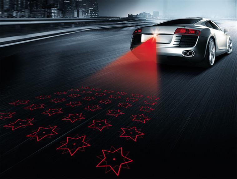 2015 car styling Pattern Anti Collision Rear-end Car Laser Tail 12v led car Fog Light Auto Brake Lamp Rearing car Warning Light(China (Mainland))