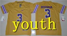 Nike 2017 Youth LSU Tigers Leonard Fournette 7 College Ice Hockey Jersey - Gridiron Gold Size S,M,L,XL Odell Beckham Jr. 3(China)