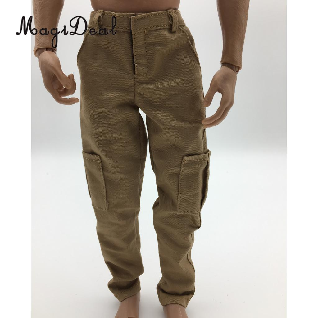 MagiDeal 1/6 Scale Mens Black Casual Pants Trousers for 12 Inch Male Action Figure Body Hot Toys Dolls Accs