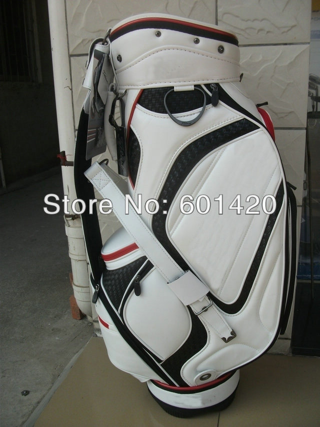 TIT tour Standard golf bag, WHITE with rain cover High quality golf pack freeship(China (Mainland))
