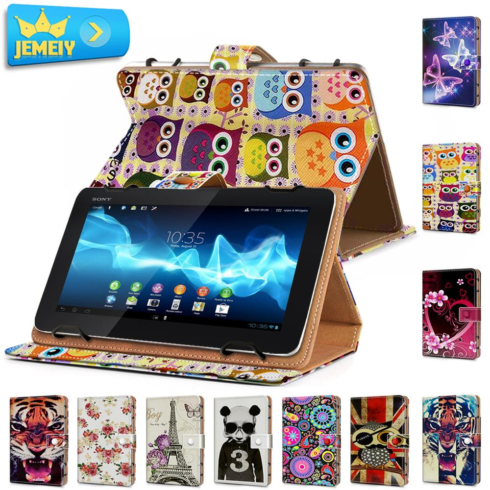 Print Leather Universal Cover For Sony Xperia Z3 Tablet Compact 8.0 /Kyocera Qua Tab 01 Case Flip Wallet Tablet Bag Middle Size<br><br>Aliexpress