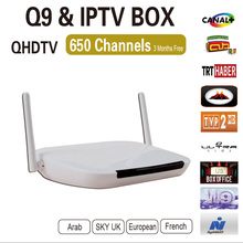 2016 Newest Android 4.4 europe IPTV/OTT Box Arabic French Sky Africa Live French Sports Movies IPTV Channel For Europe free ship