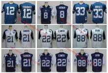 Stitiched,Dallas S,Troy Aikman,Irvin,Emitt Smith,Deion Sanders,Tony Dorsett,Roger Staubach,throwback for mens,camouflage(China (Mainland))