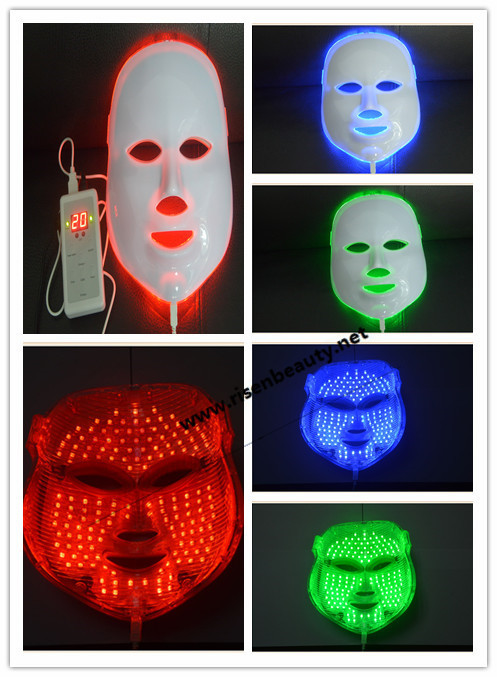 3 Color Blue/ Red/ Green Professional LED Facial Mask/ LED Mask with lowest price and high quality(China (Mainland))