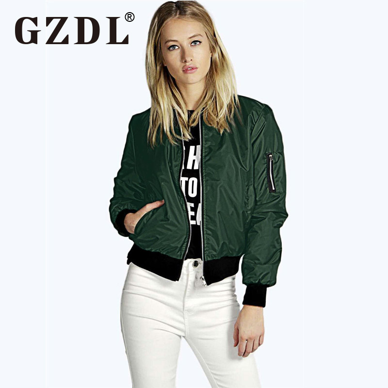 Fashion Womens Ladies Long Sleeve Classic Casual Bomber Jacket Vintage Zip Up Biker Outwear Top Jumper Cardigan Sweater CL2952(China (Mainland))