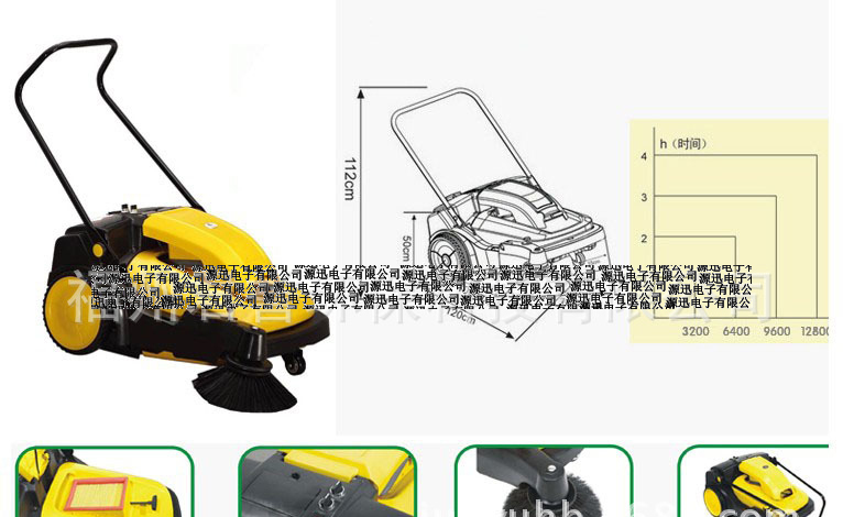 Battery charging cordless sweeper industrial sweeper hand push electric vacuum sweeper Promotions(China (Mainland))