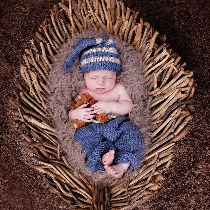Newborn Baby Girls Boys Crochet Knit Costume Photo Photography Prop(China (Mainland))