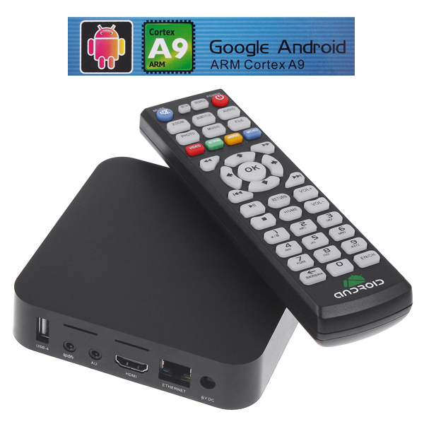 Big Sales Google Android 4.0 TV Box ARM Cortex A9 HDMI HD 1080P Wifi Internet Smart Media Player STB Mali-400 GPU(China (Mainland))
