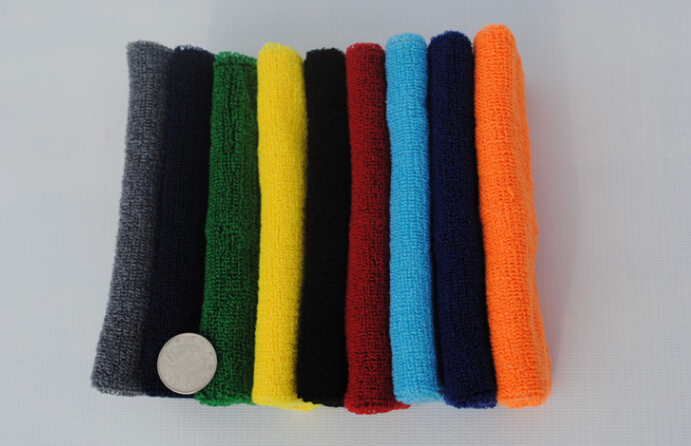2015 new popular free shipping Protection of sports equipment many color many style Sports absorbent cotton wristbands(China (Mainland))