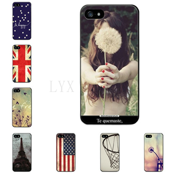 Retail High Quality Skin Design Painted Hard Protective Plastic Phone Case Cover For Iphone 5 5S Thin Shell(China (Mainland))
