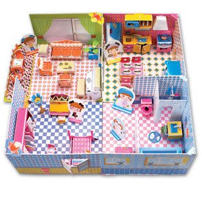 Candice guo! Hot sale 3D jigsaw puzzle CubicFun DIY paper model honey room baby girl love most 1pc(China (Mainland))