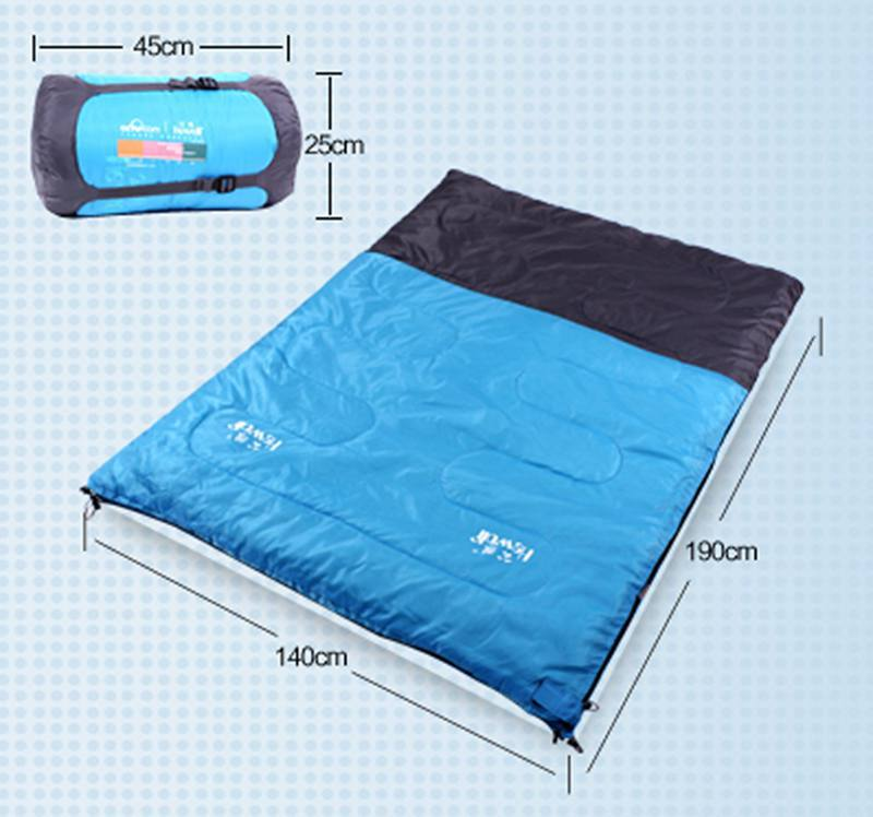2015 hot sale new spring and autumn seasons sleeping bag double quilted outdoor mountaineering sleeping bags 1539(China (Mainland))