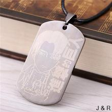J&R Anime Attack On Titan Stainless steel Pendant&Necklace Cosplay Plate Necklace