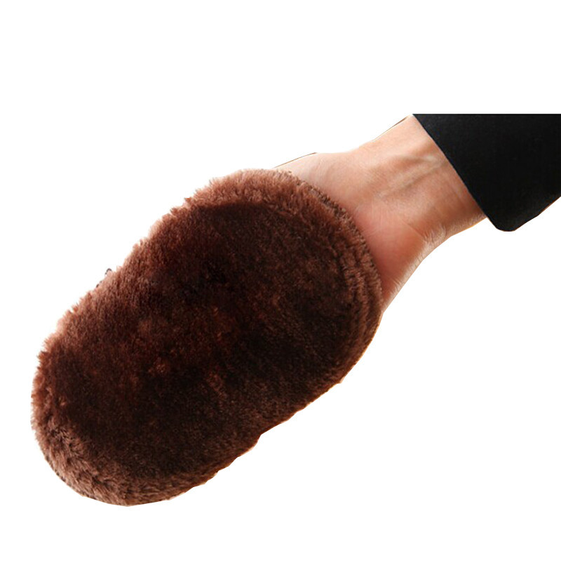 Soft Faux Wool Cloth Shoes Polisher Cleaning Cleaner Glove Brush Shoe Care 2017 hot sellling(China (Mainland))
