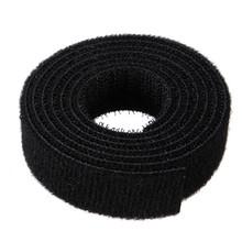 1 M * 2 cm de Nylon Bridas Correas Rollo Hook Loop Wraps Sujetador Para El Ordenador Portátil Ordenador TELEVISIÓN por Cable de Alambre gestión Organizador cinta mágica