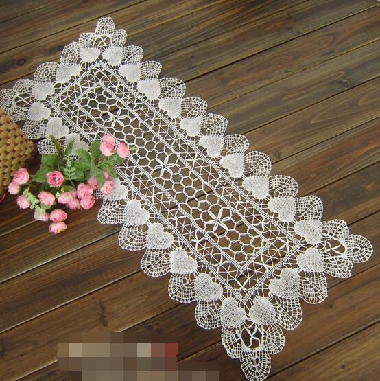 35x105cm 100% cotton Handmade Crocheted Doilies Round Tablecloths White(China (Mainland))