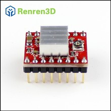 4Pcs/lot Reprap Stepper Driver A4988 Stepper Motor Driver Module with Heatsink for 3D Printer Machine